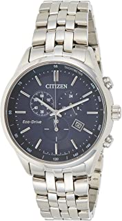 Citizen Mens Solar Powered Watch, Chronograph Display and Solid Stainless Steel Strap - AT2140-55L