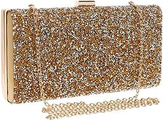 Shoulder Bag Diamond Evening Bag Ladies Fashion Banquet Bag Dress Clutch Purse Handbag Handbag Clutch (Color : Gold)