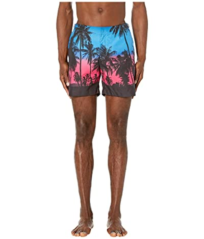 Orlebar Brown Bulldog Photographic Swim Trunk (Keep Palm and Carry-On) Men