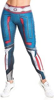 Fiber Superhero Crossfit Leggings Women Colombian Yoga Pants Compression Tights One Size