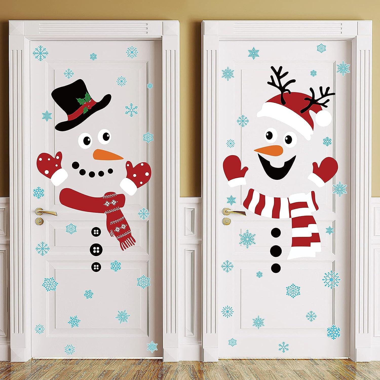 2 Pieces Christmas Door Sno Sticker Decorations Cheap Now on sale sale Winter