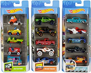 Hot Wheels Variety Cars 5-Pack 1:64 Scale Die-Cast Cars...