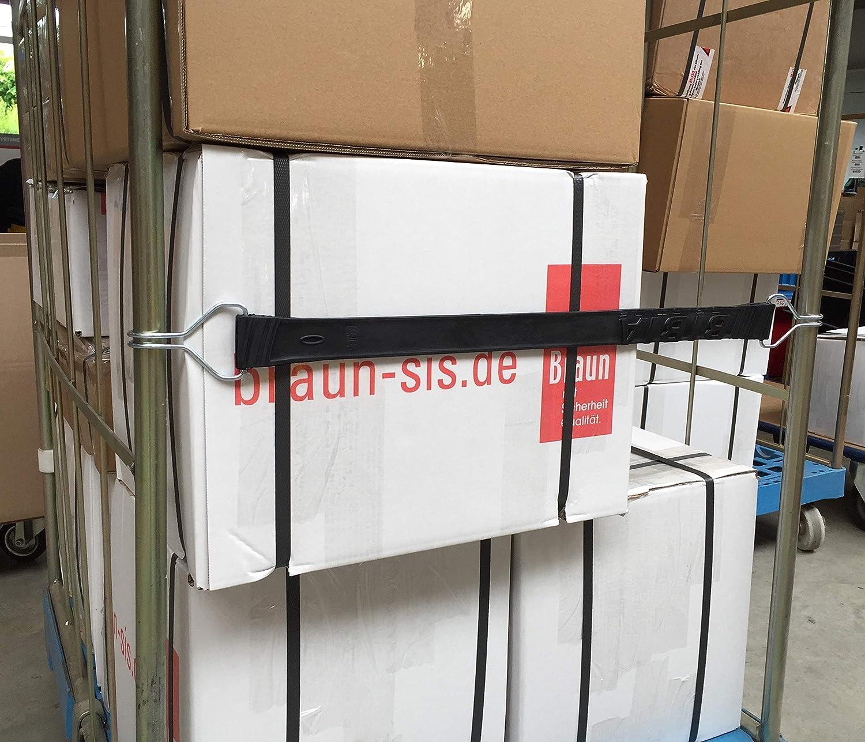 Braun Gummispanngurt Farbe Schwarz Dehnbar 54 Cm Länge 35 Mm Gurtbreite Mit Drahthaken Artikel Nr 73095 Auto
