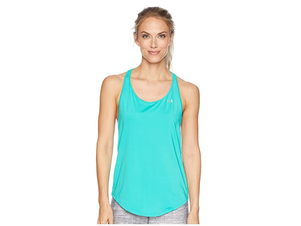 Under Armour HeatGear(r) Armour Mesh Back Tank Top (Green Malachite/Metallic Silver) Women