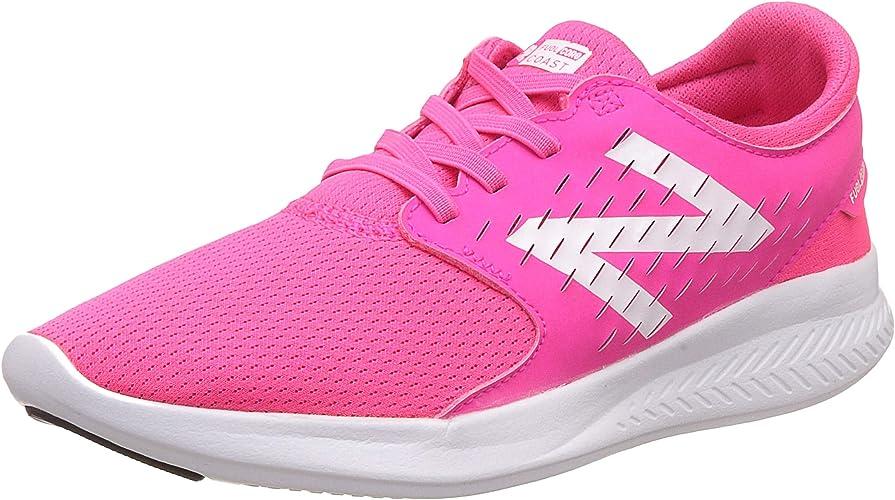New Balance Girls' Coast V3 Running chaussures, rose blanc, 11 W US Big Kid