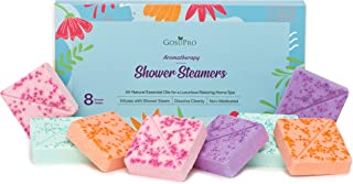 Shower Aromatherapy Steamers - Set of 8 - Organic Natural Essential Oil Fragrances - Home Spa Vapor Tablets - Self Care Relaxation Gifts for Women, Mom, Wife, Her, Friendship, Birthday, Mothers Day