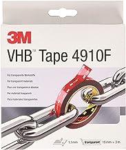 3M VHB 4910 high-performance plakband, 19 mm x 3 m, transparant, beschermafdekking: folie (1-pack)