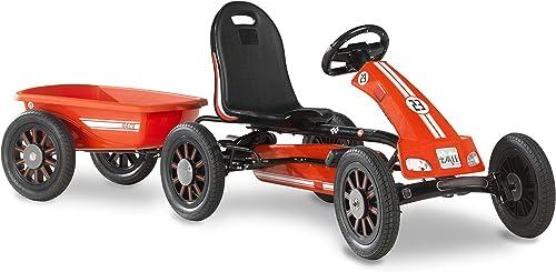 connotación de lujo discreta EXIT Spider Race Pedal Pedal Pedal go-Kart with Trailer – rojo - Juguetes de Montar (Pedal, Go Kart, 3 año(s), 6 Rueda(s), rojo, Niño)  precio razonable