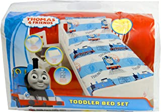 Cartoon Characters Brands :Junior Bed Set,4 Piece Bedding Bundle Quilt,Pillow Pillowcase,Duvet Cover (Thomas The Tank Engine)