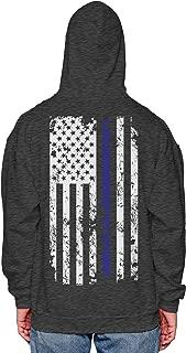 HAASE UNLIMITED Blue Line American Flag - Police Support Unisex Hoodie Sweatshirt