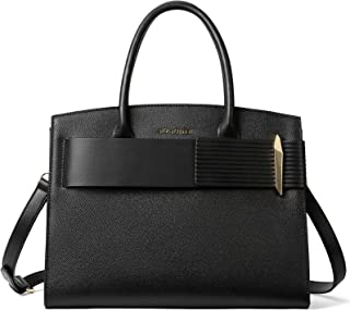 BOSTANTEN Damen Leder Handtasche Schultertasche Elegante Henkeltasche Umhängetasche Ledertaschen Tote Bag Schwarz