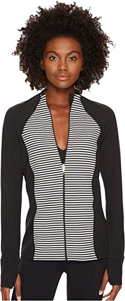 Kate Spade New York x Beyond Yoga - Saturday Stripe Raglan Jacket