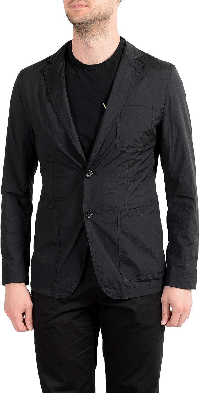 Hugo Boss Noas1 Men's Black Packable Two Button Blazer Sport Coat Sz US