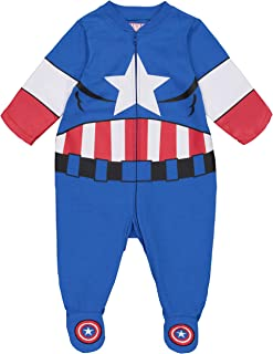 Avengers Boys' Spiderman Hulk Captain America Iron Man Costume Coverall