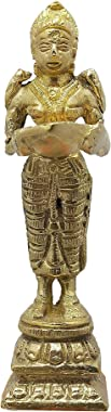 M A IMPEX Deeplakshmi for Your Temple - Home Worship Figurine - Brass Item Figurines
