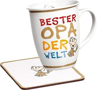 Ritzenhoff & Breker Best Mugs Coffee Mug, Cup, Motif: Bester Opa (Best Grandpa), Beige, 24715