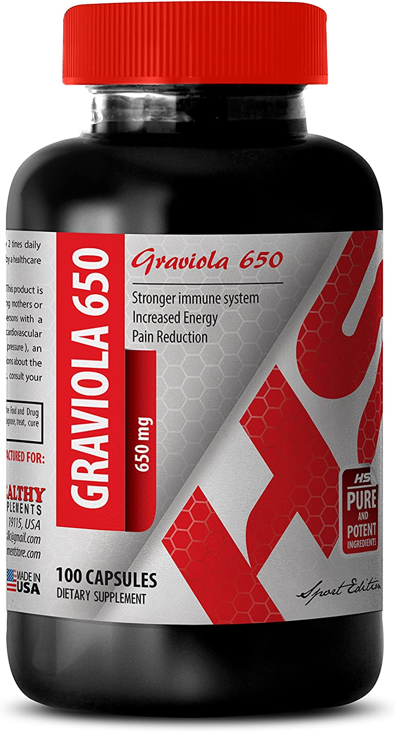Graviola 2021new shipping free shipping Capsules - Pure GRAVIOLA lowest price Leaf Powder MG S 650 Prevent
