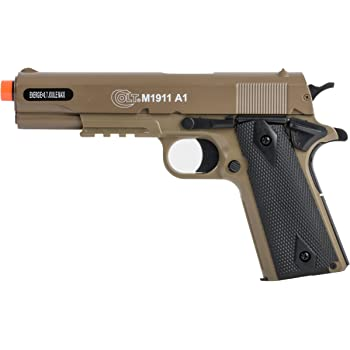 Colt Soft Air Spring Pistol with Metal Slide, Tan