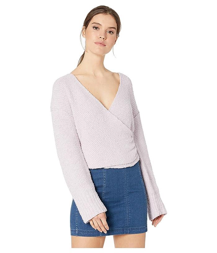 Free People Sensual Wrap Sweater (Lilac) Women