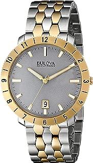 Men's 98B216 Two-Tone Case Grey Dial Watch (Renewed)