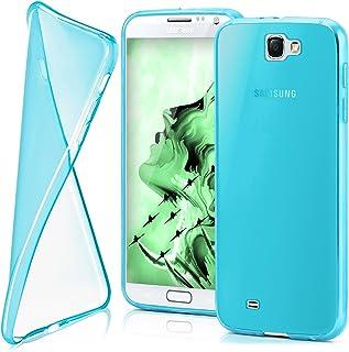 MoEx® Funda [Transparente] Compatible con Samsung Galaxy Note 2 | Ultrafina y Antideslizante - Turquoise