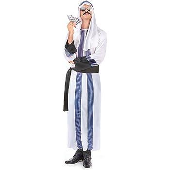 Disfraz de jeque árabe para hombre Talla única: Amazon.es ...