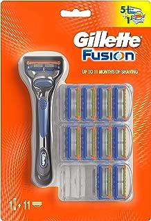 Gillette Fusion Men's Razor & 10 Blades Refills