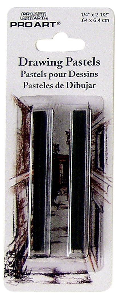 Pro Art Drawing Pastel 2 Per Card, Black HB