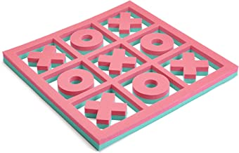 Floatation iQ H2O 3-in-A-Row - Floating Tic-Tac-Toe Pool Game - Made in The USA w/Durable (PE) Tear Resistant Foam