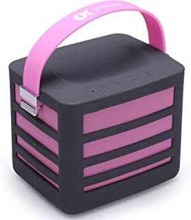 Proxelle Surgepower-Pink Portable Wireless Bluetooth Speaker with Built-in Power Bank Plus 2 USB Ports, Get Epic Audio Wherever You Go, Pink