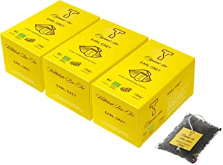 WITAL TEE - ORGANIC EARL GREY - Schwarzer Tee - 3 x 25 Plastikfreie Teebeutel aus bio PLA