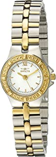 """Invicta Women's 0136""""Wildflower Collection"""" 18k Gold-Plated Stainless Steel Watch"""