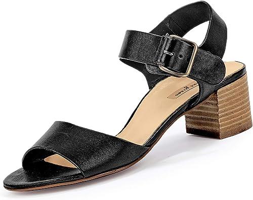 Paul Grün 7402-044 Damen Elegante Elegante Elegante Sandalette aus Glattleder mit 45-mm-Absatz, Groesse 38 1 2, schwarz  Professionelles integriertes Online-Einkaufszentrum