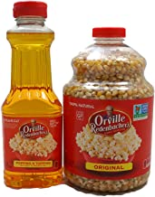 Variety Pack - Orville Redenbachers - Gourmet Popcorn Kernels (Original Yellow, 45 oz) and Popping & Topping Buttery Flavored Oil (16 oz)
