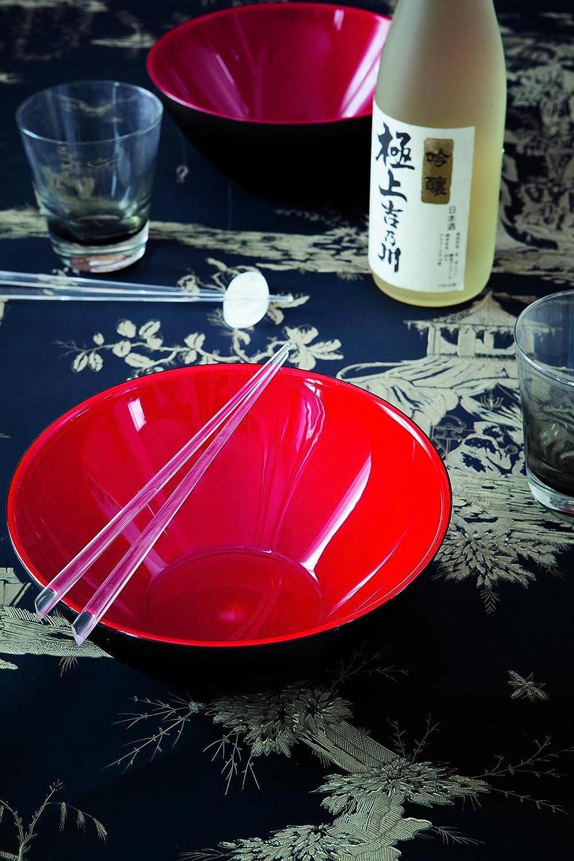 Guzzini My Fusion Black and Red 1.2 Quart Bowl