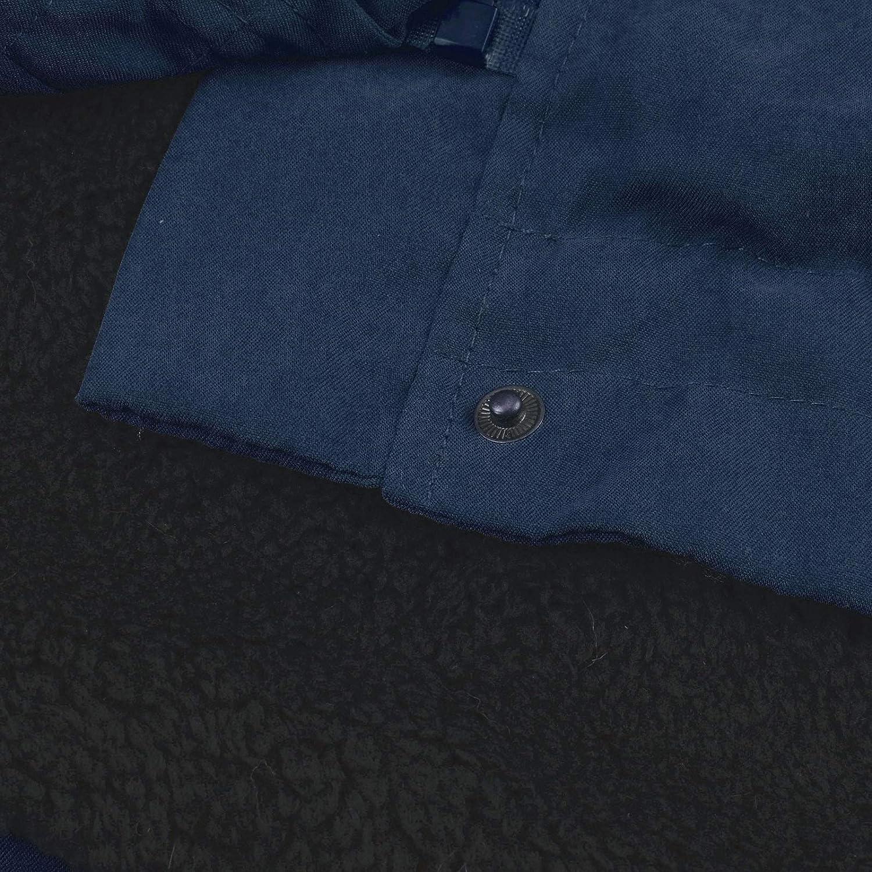 OIKAY Damen Dicke Lange Jacke Kunstpelz Futter Mantel Damen Winter warm mit Kapuze Parka Damen Parka Jacke Winterjacke Fellkapuze T Marine
