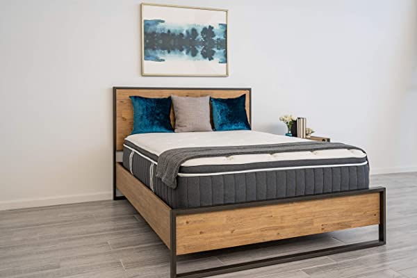 Dreamfoam Bedding Polar 14 Cushion Firm Eurotop Cooling Hybrid Mattress Twin XL