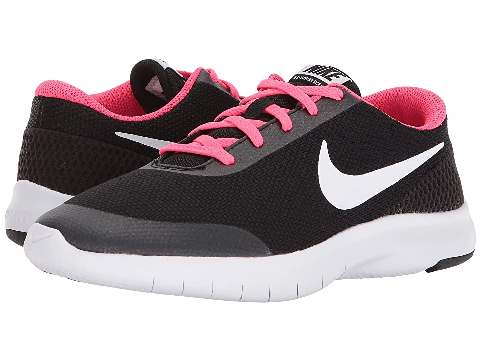 Nike Kids Flex Experience Run 7 (Big Kid) (Black/White/Racer Pink) Girls Shoes