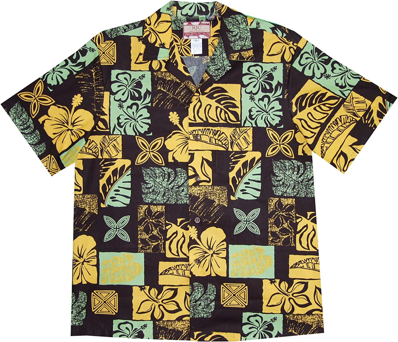 RJC 5X Big Mens Bold Hawaiian Leaf Shirt