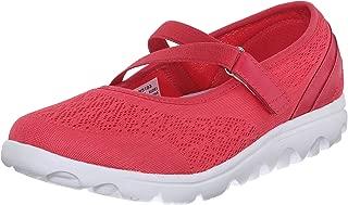 Propet Women's TravelActiv Mary Jan Fashion Sneaker, Watermelon Red, 7 4E US