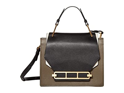 ZAC Zac Posen Katie Top-Handle Shoulder Color Block (Black 1) Handbags