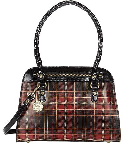 Patricia Nash Calvi Satchel (Red Tartan) Bags