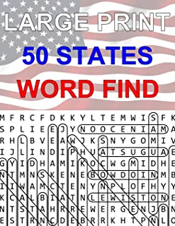 50 States Large Print Word Find: Easy to Read Themed Word Search Puzzle Book (Geography Series)