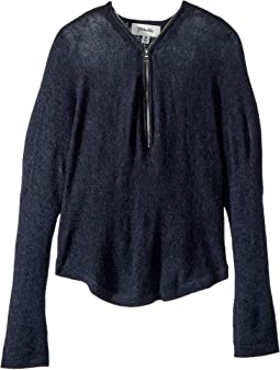 Y-Neck Zip Sweater (Big Kids)