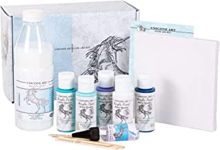 Flow Art Paint Pouring Kit Premium Set - Pour Art Gift Set - All in One - Artist Grade - 14 Piece Kit - Premium Quality
