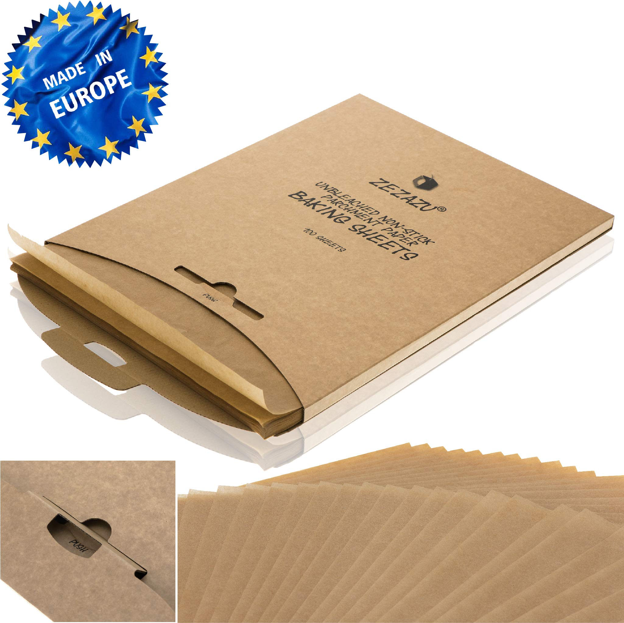 100 X Non Stick Greaseproof Parchment Paper Cake Tin Liners 12 x 16 Inches
