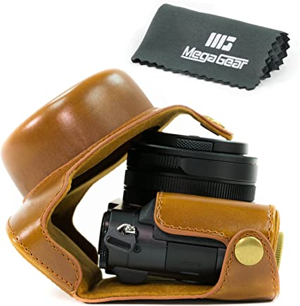 MegaGear Ever Ready Protective Leather Camera Case, Bag for Panasonic LUMIX LX100 Compact System Camera