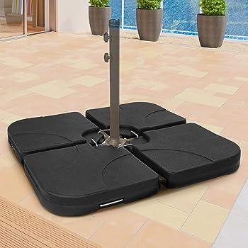 Ampelschirm Baser Outdoor bef/üllbare gerade Sands/äcke: Gewicht//Beschwerung f/ür Sonnenschirme Alternative zu Beschwerungsplatten W/äschest/änder T/ürstopper 2 x 25 kg Trampolin