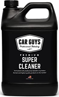 CarGuys Super Cleaner - The Most Effective All Purpose Cleaner Available on The Market! - Best for Leather Vinyl Carpet Upholstery Plastic Rubber and Much More! - 1 Gallon Bulk Refill