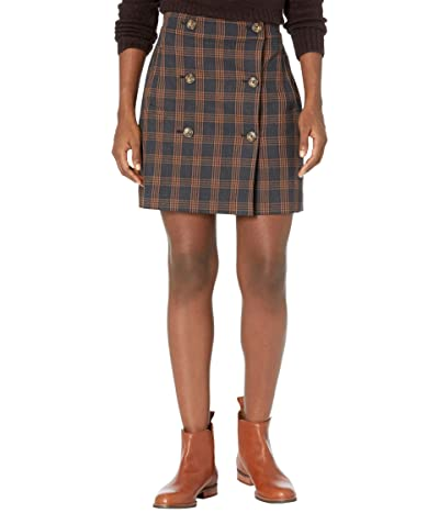 Madewell Plaid Double-Breasted Mini Skirt (Vintage Blazer Plaid) Women